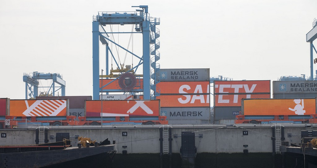 Official opening APM Terminals Maasvlakte II by King Willem Alexander of the Netherlands