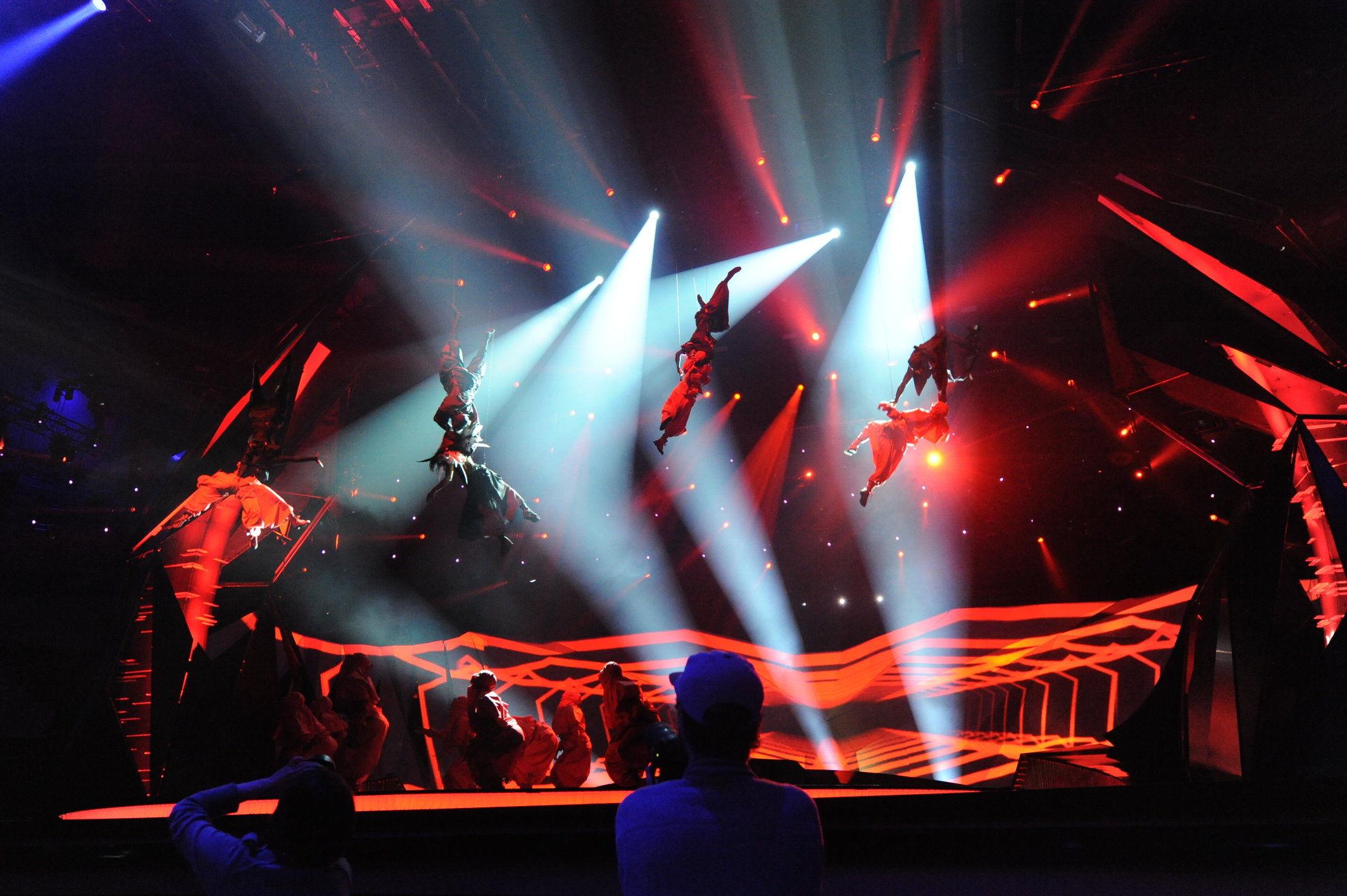 BlackTrax makes big show debut at Eurovision 2013