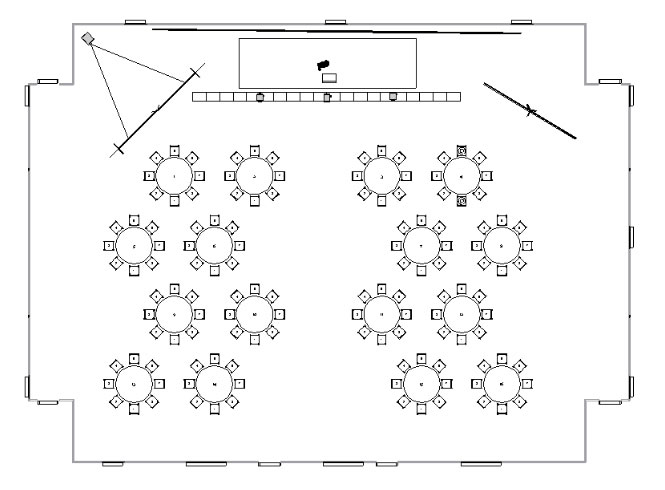 use vivien's 2d tools to create accurate scaled diagrams that you can print  or export into pdf/jpg formats, or as templates for future events