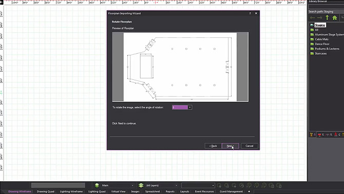 9 – Importing a Venue's 2D Floor Plan and Turning It to 3D
